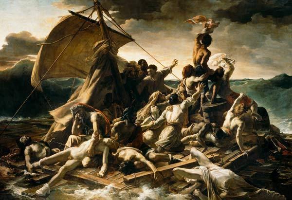 Le radeau de la méduse, symbole de la débâcle occidentale, par Théodore Géricault - 1819