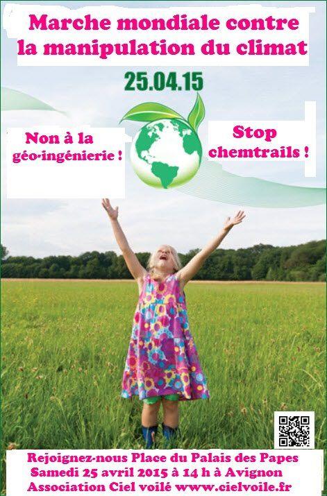Marche mondiale contre la géo-ingénierie à Avignon le 25 avril