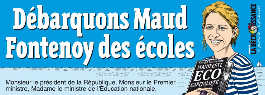 Signez la pétition : débarquons Maud Fontenoy des écoles