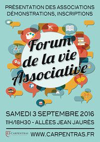 Samedi 3 septembre : forum des associations à Carpentras