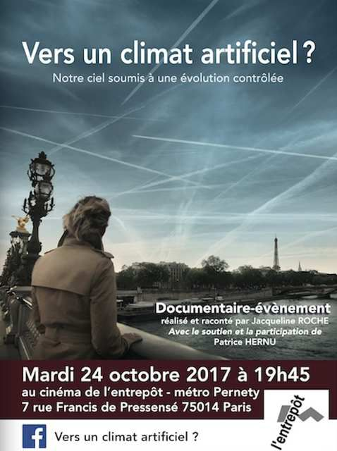 Projection du film &quot&#x3B; Vers un climat artificiel&quot&#x3B; à Paris le 24 octobre 2017