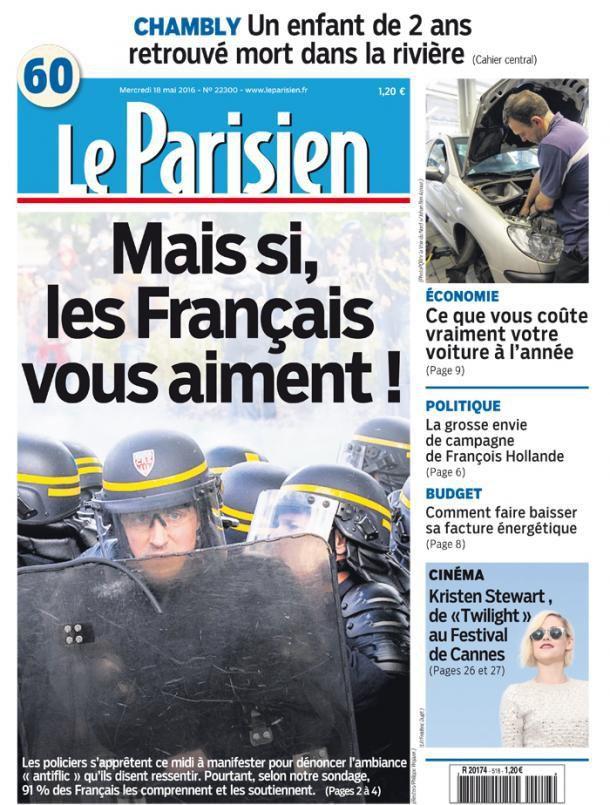 Une (du Parisien) fois n'est pas coutume