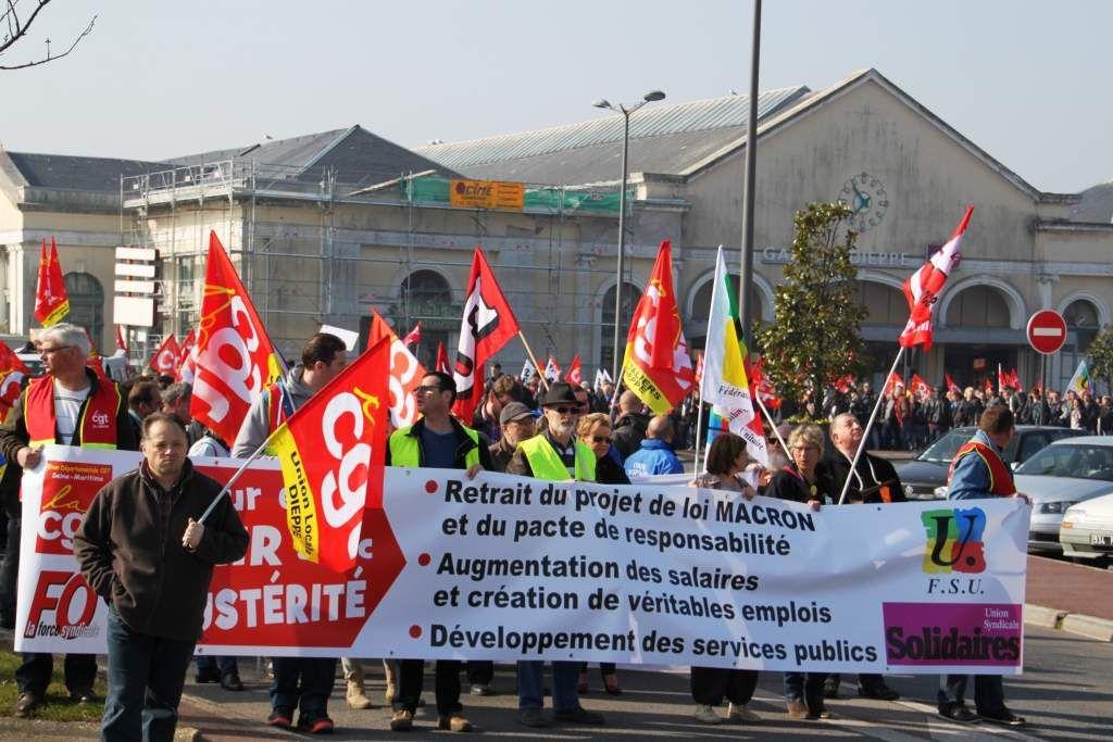 1000 manifestants à Dieppe le 9 avril 2015