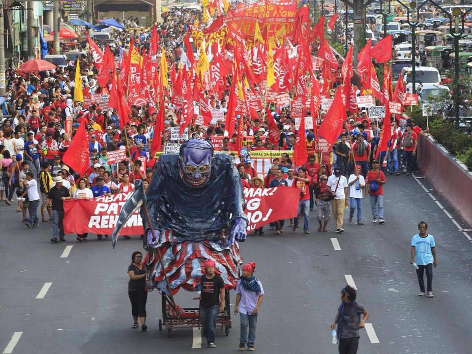 1er mai à Manille (Philipines)