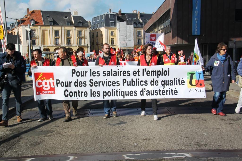 8 octobre 2015: 500 manifestants à Dieppe
