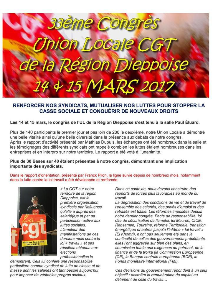 Journal de l'UL CGT de Dieppe n°15