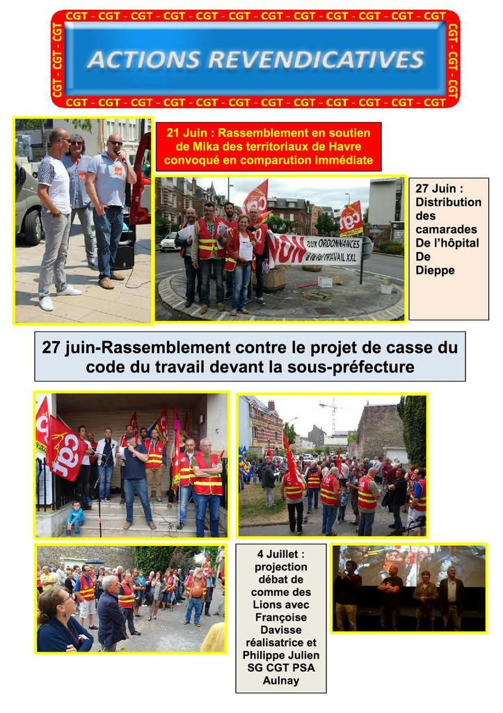 Bulletin n°19 de l'UL CGT Dieppe