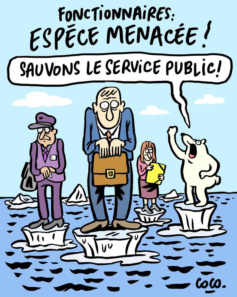 Tract collectif SP 76 / Dessin Coco, Babouse et Man