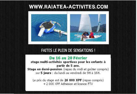 Activités nautiques - Vacances de Février