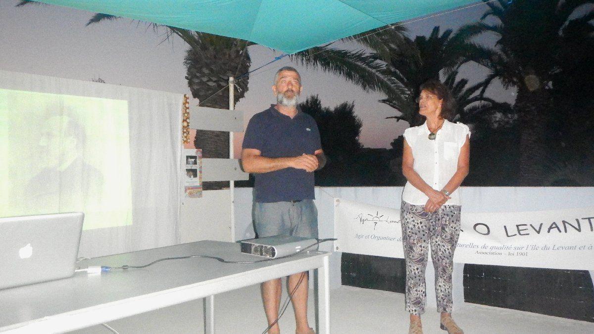 Brigitte Chamagne-Rollier et Jean-Pierre Blanc à l'Atelier de Lau