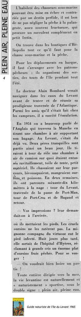 Guide naturiste de l'Ile du Levant 1965