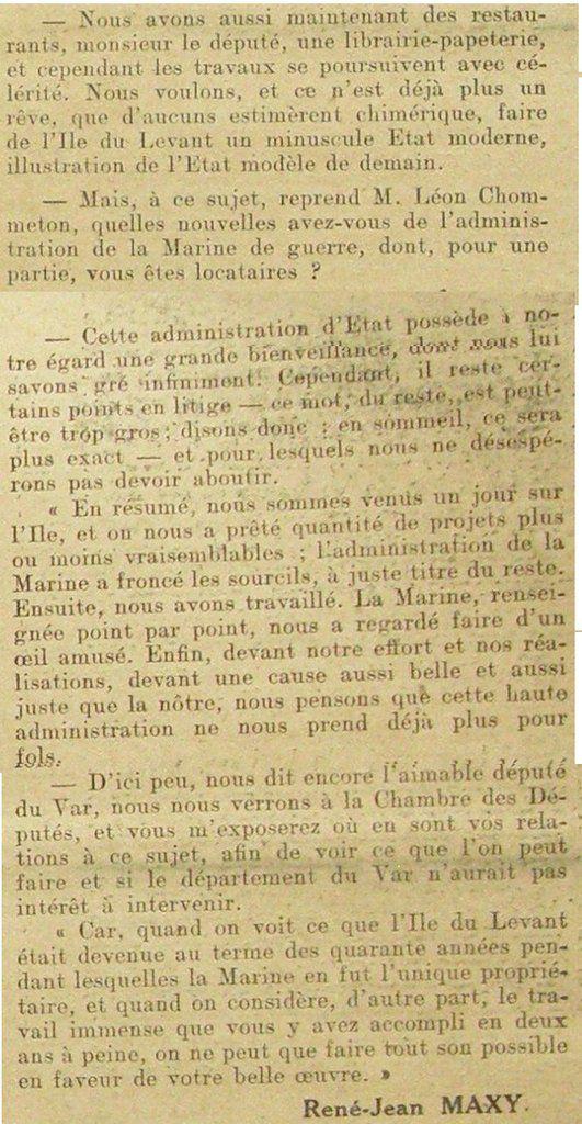 1932, dans la revue NATURISME : Héliopolis ou la cité de demain