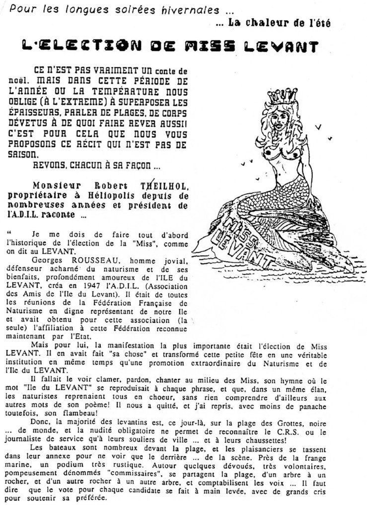 L'élection de Miss Levant par Robert Teilhol 1/3