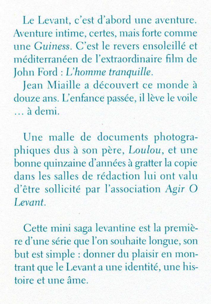 CAHIERS DU LEVANT : une rétrospective Cahiers n°1