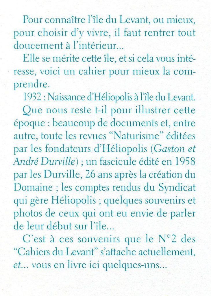 CAHIERS DU LEVANT, une rétrospective : Cahiers n°2