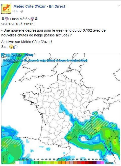 Source à suivre : https://www.facebook.com/meteoCA/timeline