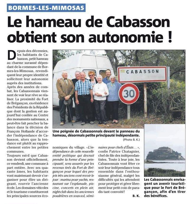 Commune libre de l'île du Levant ?