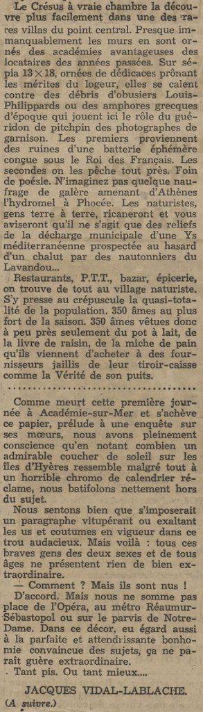 Vacances à Académies-sur-Mer 1