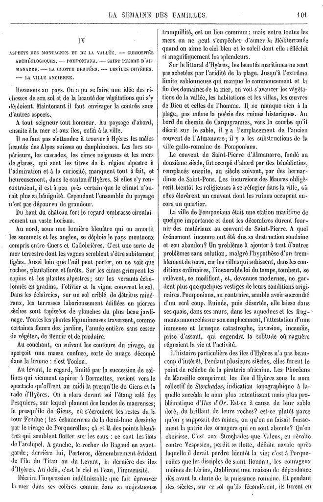 Semaine des Familles du 16/11/1861 Source : http://gallica.bnf.fr