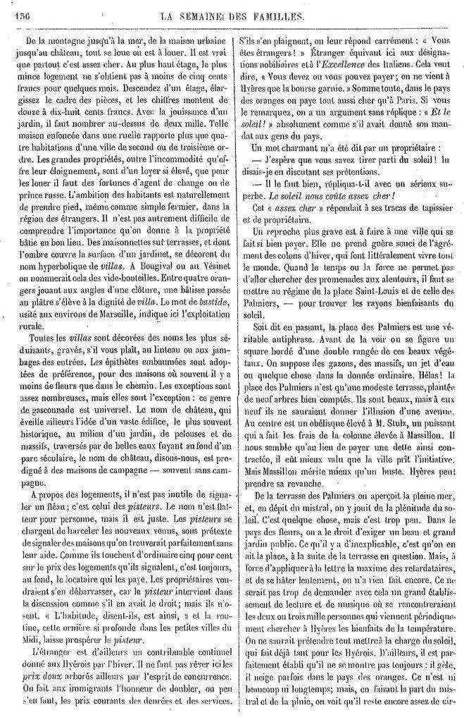 Semaine des Familles du 30/11/1861 Source : http://gallica.bnf.fr