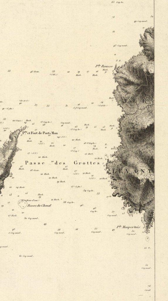Une carte marine de 1842 2/2