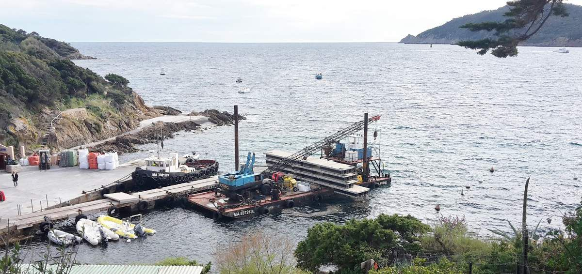 Remise en place des pontons