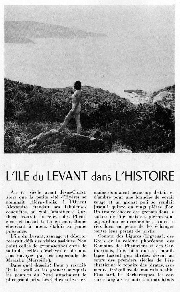 &quot&#x3B;L'île du Levant dans l'histoire&quot&#x3B; 1/3