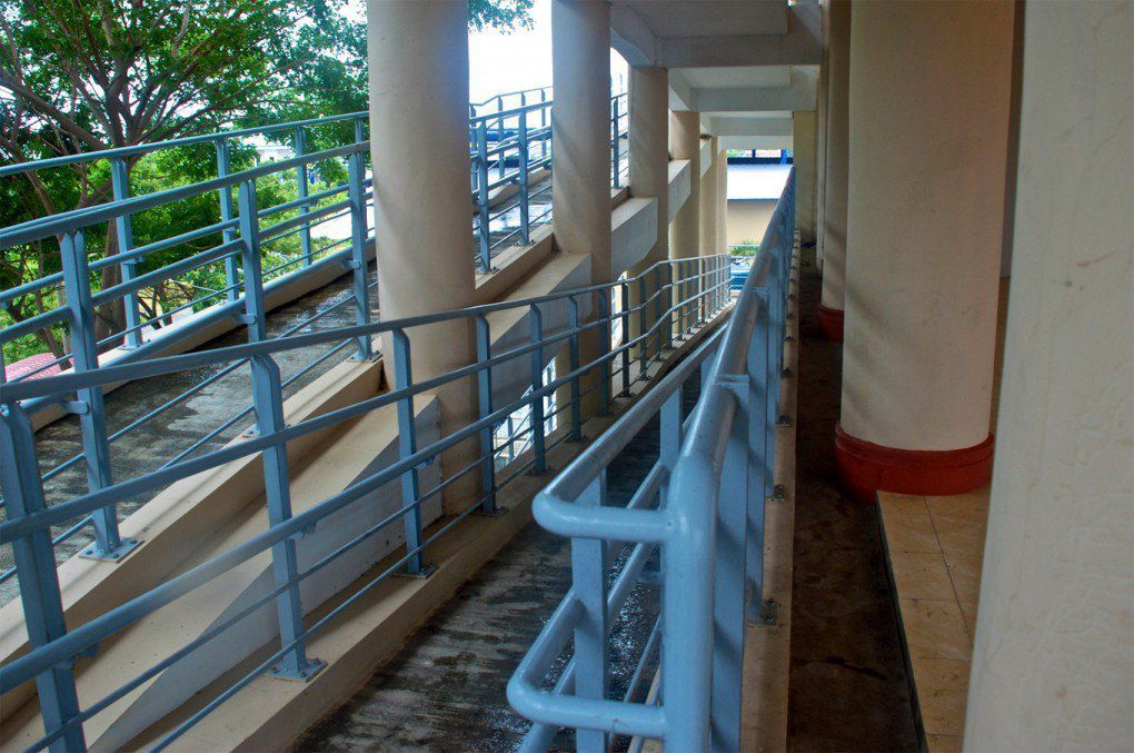 Escape building ramps, Gampong Lambung. [Lawrence Vale]