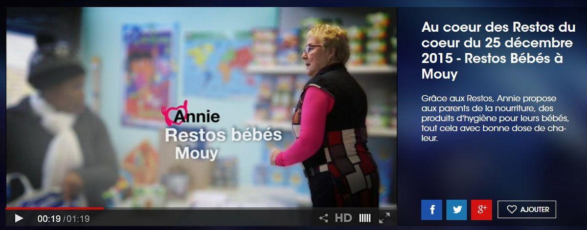 """TF1 au cœur des Restos à Mouy au centre """"bébés"""""""
