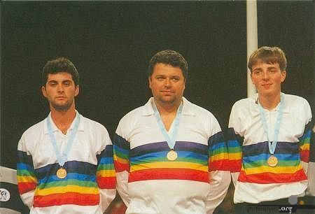 1 er titre  1995: David Le Dantec, Philippe Quintais and Philippe Suchaud