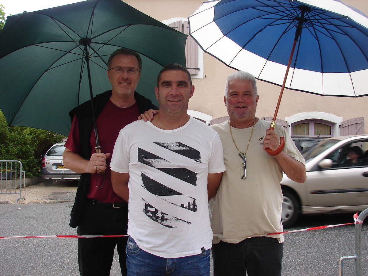 Des coaches satisfaits! De gauche à droite: Pierre Noël Archangeli, Damien Sogno et Kiki Gouazé