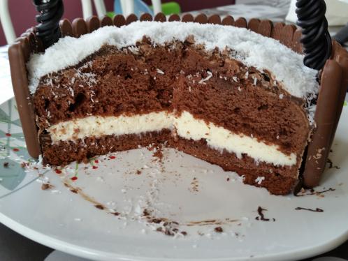 Gâteau de Pâques façon &quot&#x3B;Kinder délice coco&quot&#x3B;