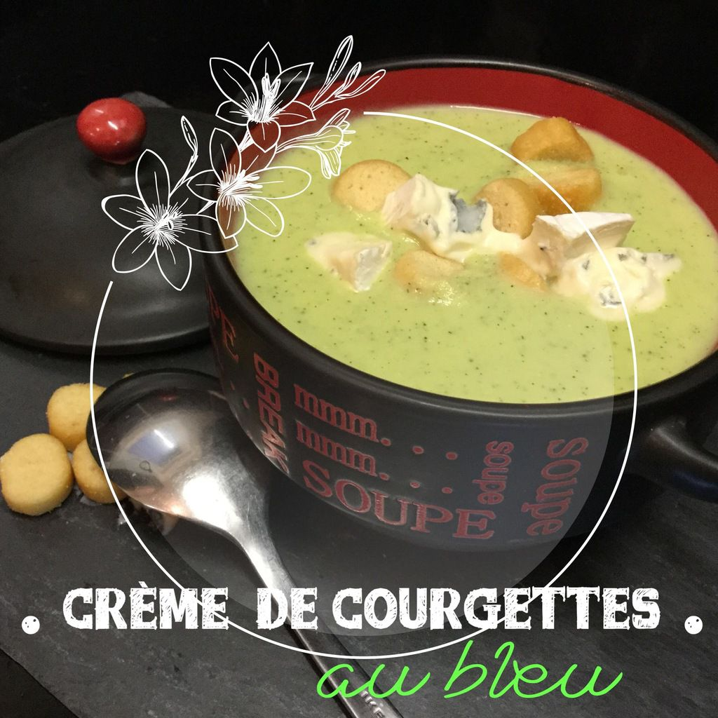 creme de courgettes au bleu au companion ou thermomix my homemade cook. Black Bedroom Furniture Sets. Home Design Ideas