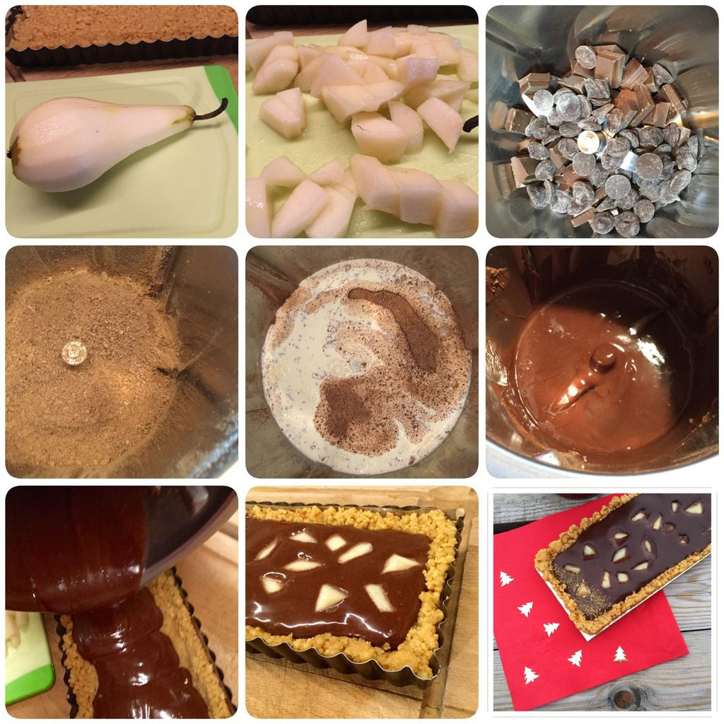 tarte poire chocolat sans cuisson my homemade cook. Black Bedroom Furniture Sets. Home Design Ideas