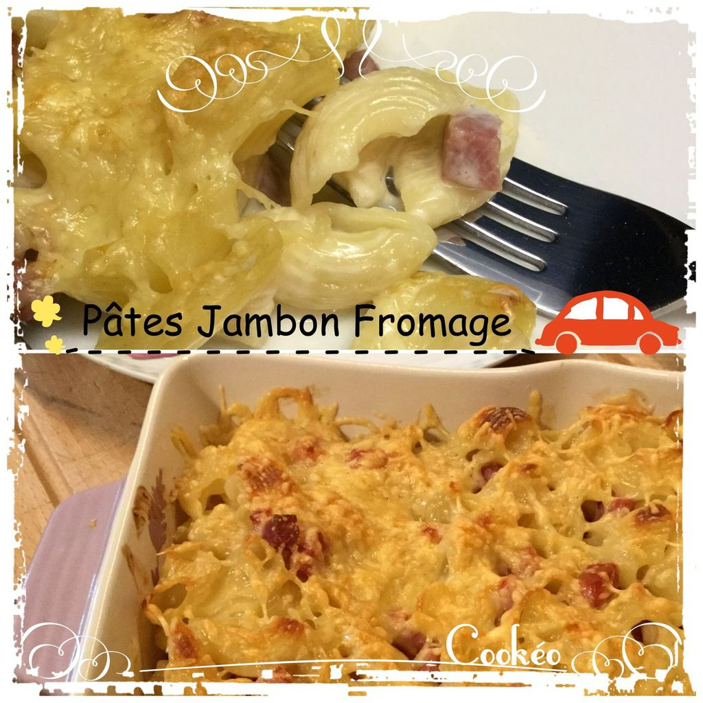 PATES JAMBON FROMAGE AU COOKEO