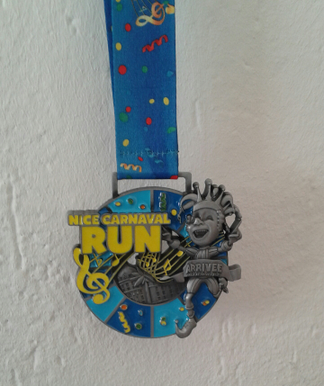 La médaille Finisher du Nice Carnaval Run 2015 par LittleMarmotte