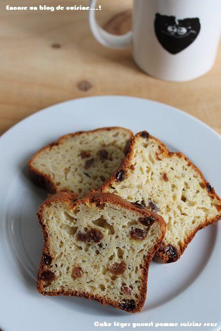 Cake healthy yaourt pomme raisins secs #83