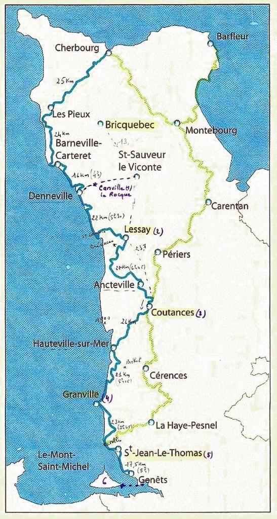 1 - voie aux Anglais ou voie du Mt St Michel