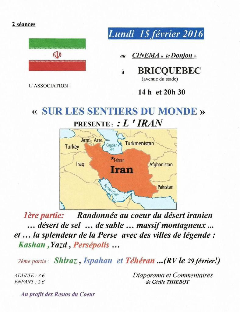 IRAN (1) Projection à BRICQUEBEC (50)