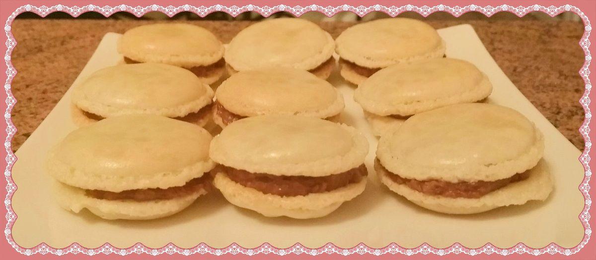 Macarons chocolat au lait et coco (façon bounty)