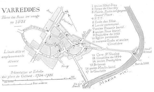 Nom des rues en 1838