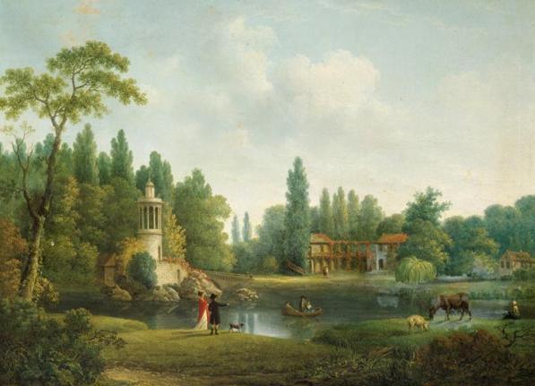 Le petit Trianon peinture de Pierre Joseph Wallaert