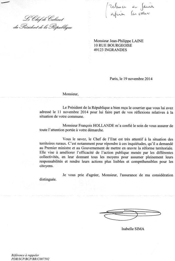 La Presidence De La Republique Porte Attention A Notre Demarche