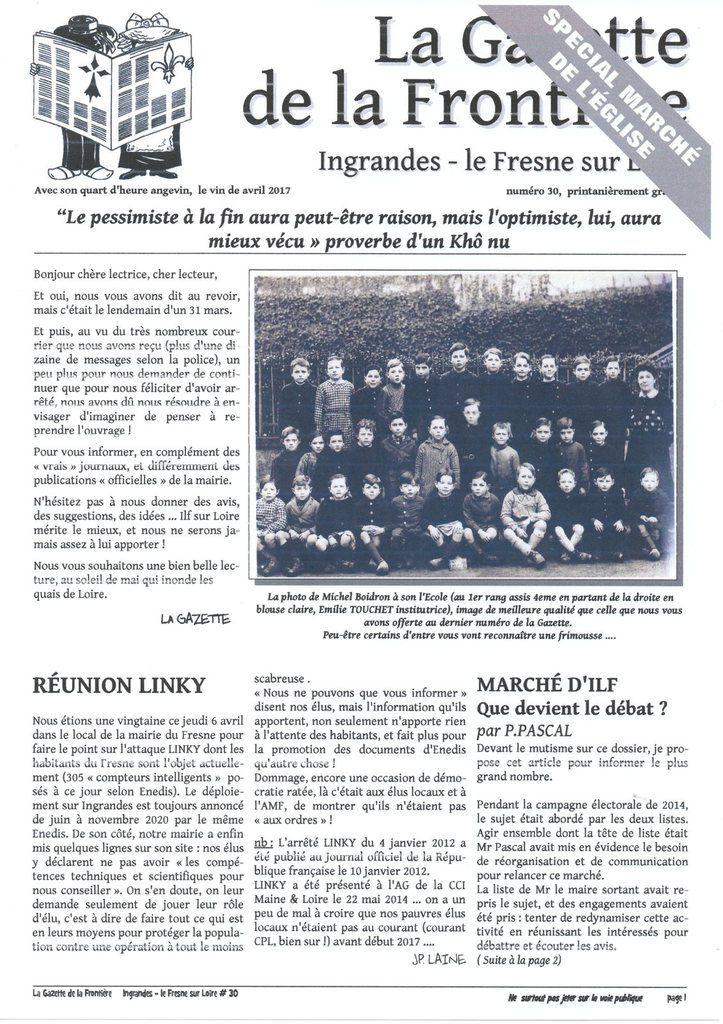 La Gazette de la Frontière #30, avril 2017
