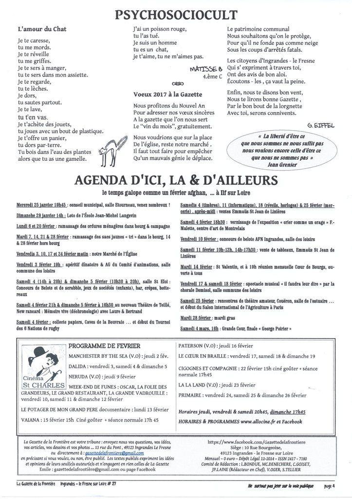 La Gazette de la Frontière #27, janvier 2017