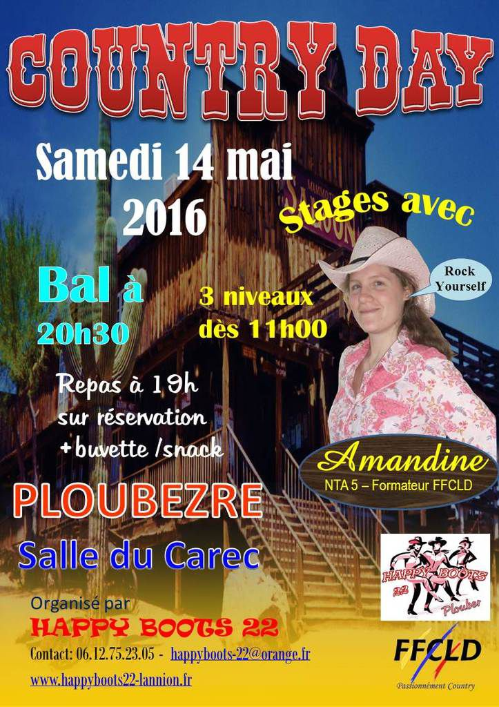 HAPPY BOOTS 22 vous attend pour le COUNTRY DAY