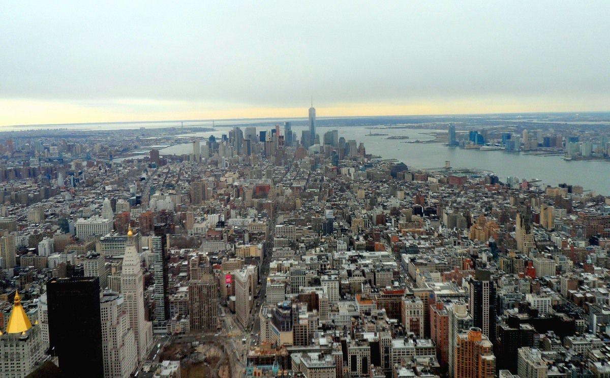 Ici New York, du haut de l'Empire State Building