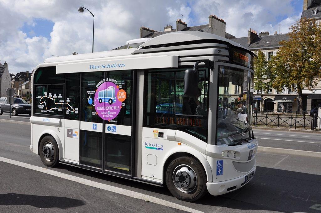 Essai  d'un bus 100% électrique à Quimper