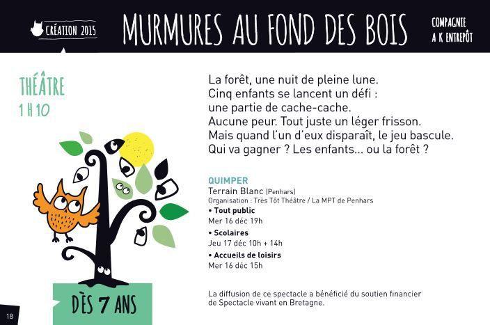 Festival Théâtre à tout âge dans le Finistère