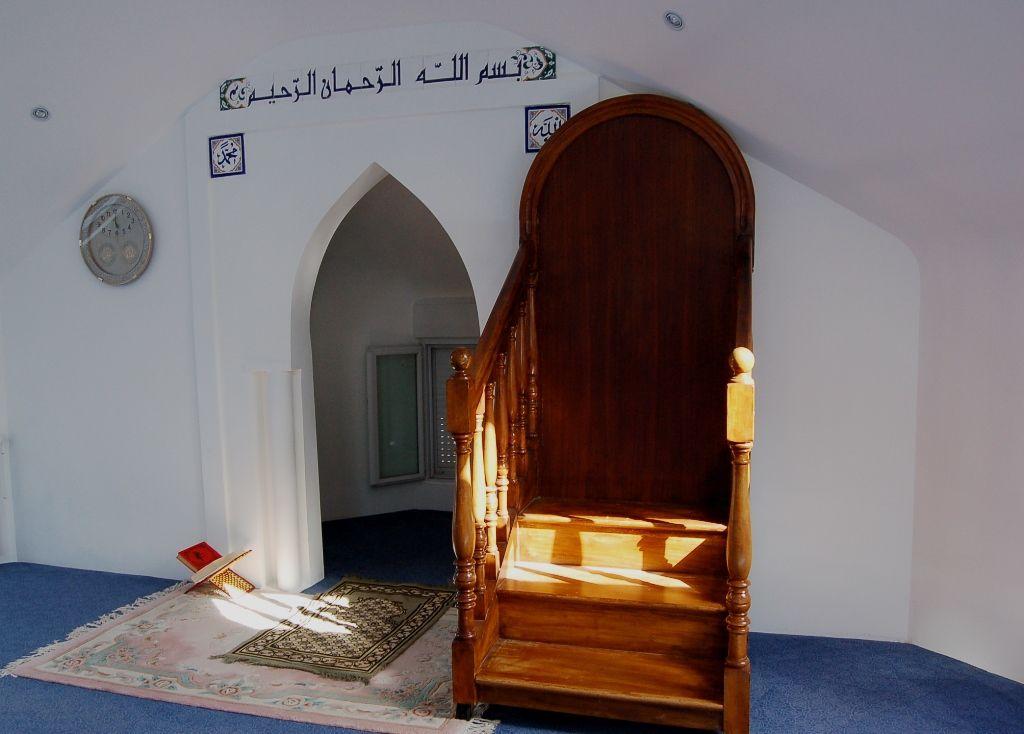 Le mihrab de la mosquée du bourg de Penhars (archive Penhars Infos 2007)
